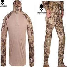 Emerson táctica bdu G3 contra uniforme Emerson camisa y pantalones militares nos ejército bdu conjunto kryptek Highlander trajes EM8594 + EM7047