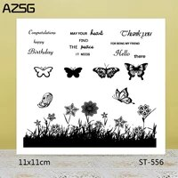 azsg flowering shrub beautiful flower clear stampsseals for diy scrapbookingcard makingalbum decorative silicone stamp crafts