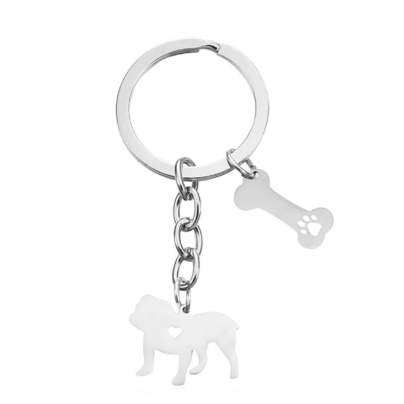Elfin New French Bulldog Keychains Fashion Pet Memorial Jewellery High Quality Women Men French Bull