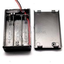 Boîtier de boîte de support de batterie 3 * AAA 4.5 V avec couvercle, interrupteur, fil 3 xAAA 3x1.5 V 7 #
