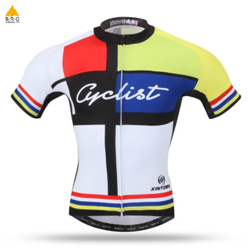 Camisetas de ciclismo transpirables, camisetas de ciclismo de montaña, camisetas deportivas para hombre, camisetas de Ciclismo de dos colores