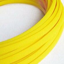 Fil de protection en Nylon 1-50 mètres   Gaine isolante extensible en PET étanche, manches tressées jaune Fluorescent