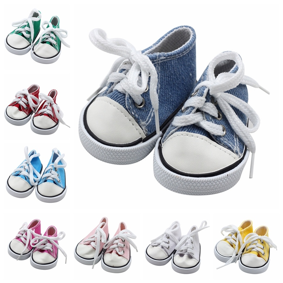7cm Mini Doll Sneackers for 43CM Reborn New Baby Doll Sport Shoes for 18 inch doll 7cm Toy Boots Doll Accessories недорого