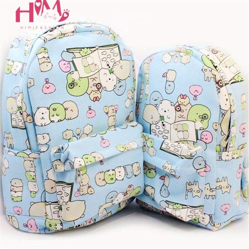Japanese Kawaii Anime Sumikko Toys Backpack Corner Bear Womens Large Pink Shoulder School Bags Pack Children Schoolbag Gifts
