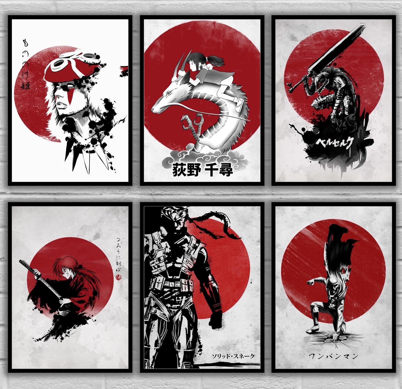 Mononoke hime princesa mononoke spirited away japonês anime japão arte cartaz da lona pintura