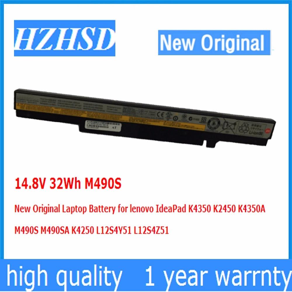 14.8V 32Wh M490S جديد الأصلي بطارية كمبيوتر محمول لينوفو IdeaPad K4350 K2450 K4350A M490S M490SA K4250 L12S4Y51 L12S4Z51