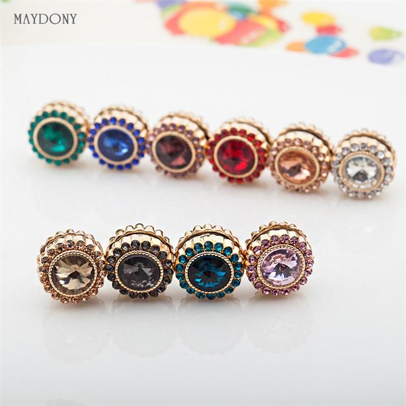XT65 Wholesale fashion headwear scarf magnet brooch hijab clips 12pcs/lot