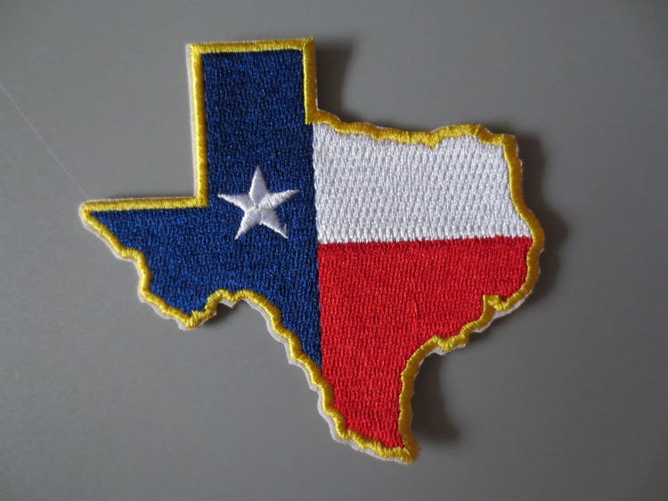 Изящные вышивальные патчи с флагом Техаса для куртки, жилета на заднюю крышку мотоцикла, клубного байкера, сделай сам, 8,8X8 см
