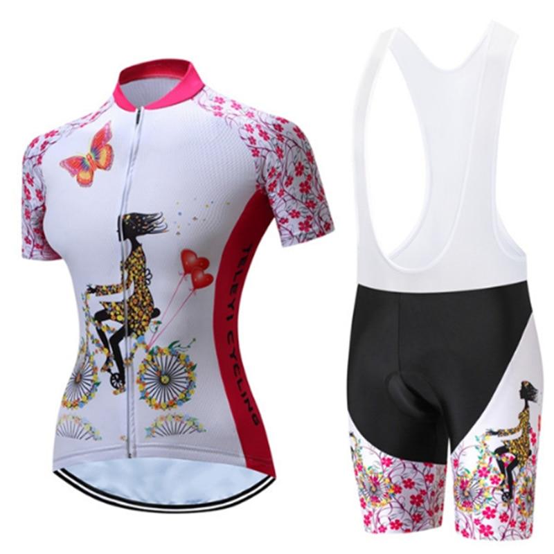 Teleyi venda verão mulher rosa ciclismo roupas ciclismo jerseys/secagem rápida bicicleta esportes wear terno esportivo