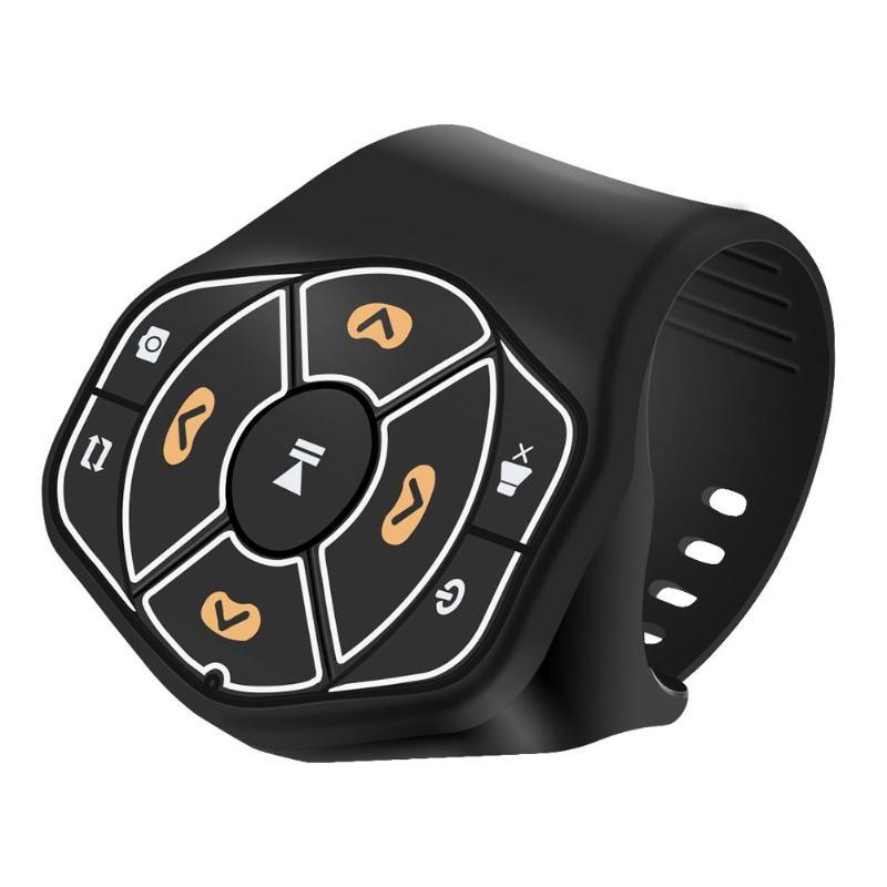 Botón de volante de coche inalámbrico Control remoto Bluetooth 4,0 manos libres reproductor Multimedia botón para Android IOS estilo de coche