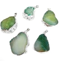 le sky 1pc natural stone hot selling trendy agates pendants necklace pendant for jewelry making diy necklace
