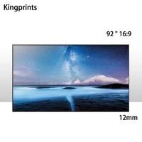 HD 92 pouces 16x9 ecran large Ultra mince limite 12mm blanc mat ecran de Projection a cadre fixe pour projecteur Home Cinema