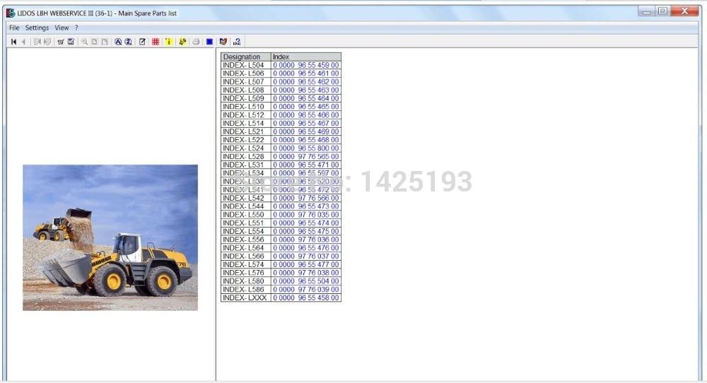 Liebherr Lidos OFFLINE 2020 DVD (LBH + LFR + LHB + LWT + CUNA) Partes catálogos