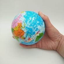 100mm/63mm Anti-Stress carte du monde mousse balle Atlas Globe paume balle planète terre balle jouets pour enfants