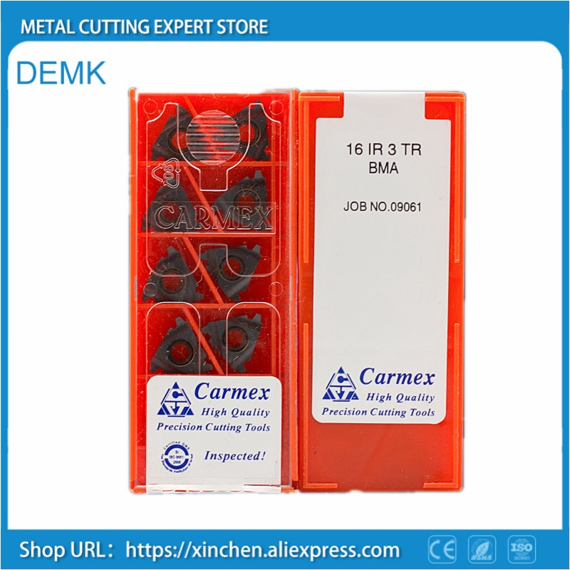 Cuchillo 16ER Tr hilo Trapezoidal corte de hilo herramienta de torneado externo CNC hoja de corte de carburo SER Torreta para Carmex 10 Uds