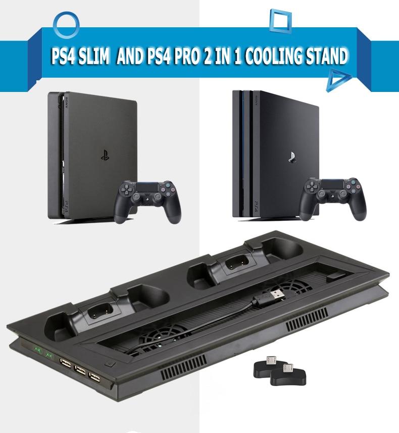 Soporte de carga de refrigeración Vertical para PS4 PRO, estación de juego...