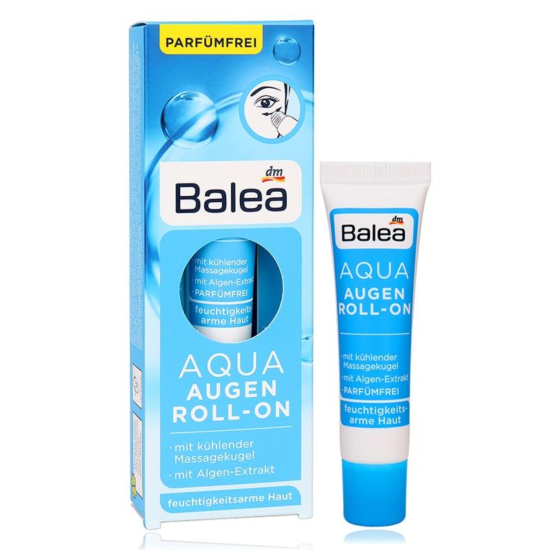 Germany Balea Aqua Roll On Eye Cream Seaweed Extract Refreshing VE Gel Cooling massage ball Fight swelling dark circles