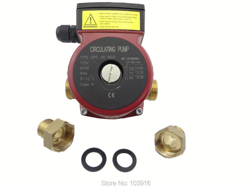 110 v النحاس مضخة توزيع 3 سرعة ، للمياه الساخنة نظام تسخين ، ل سخان بالطاقة الشمسية