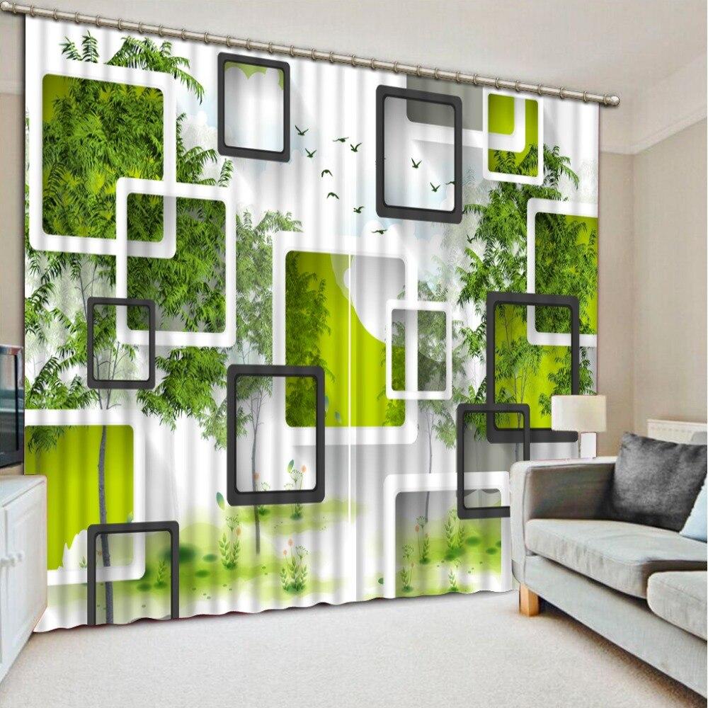 2017 árbol Simple caja de cortinas para la sala de cocina ventana dormitorio ackout sombra cortinas de la ventana