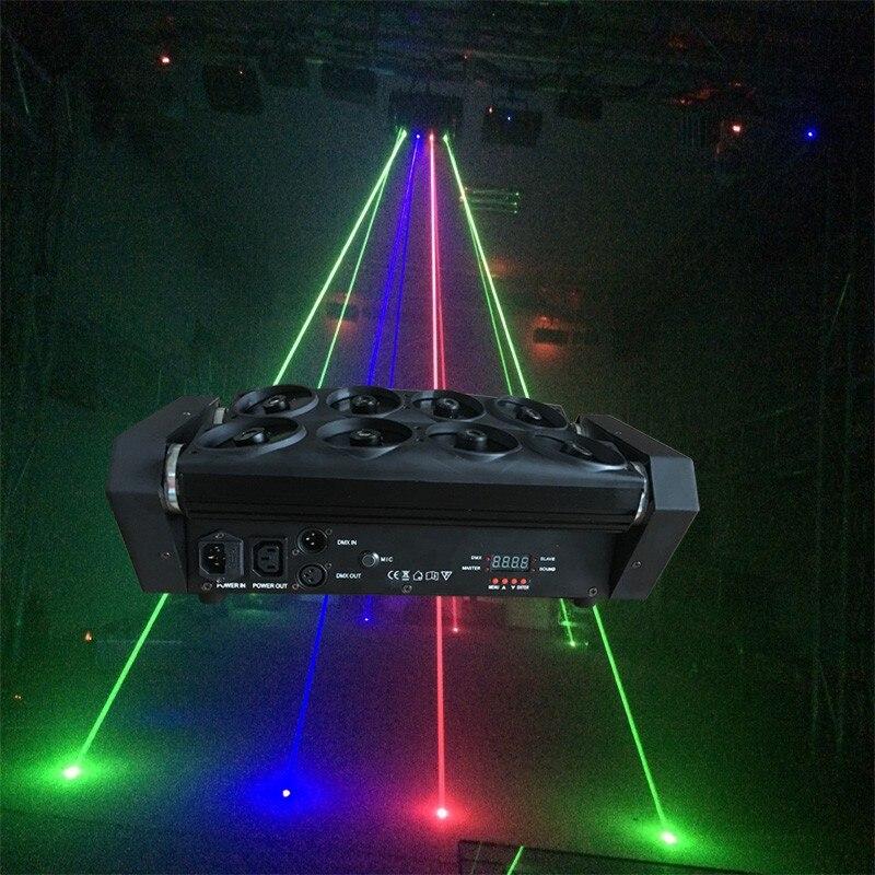 Red green blue light big led beam spider light 8 lens laser Projector performing arts auditorium Club wedding bar spider lights