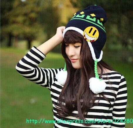 Caliente Anime DMMd DRAMAtical Murder Noiz sombrero de punto caliente accesorios de disfraces de invierno con borlas regalo de Navidad Halloween