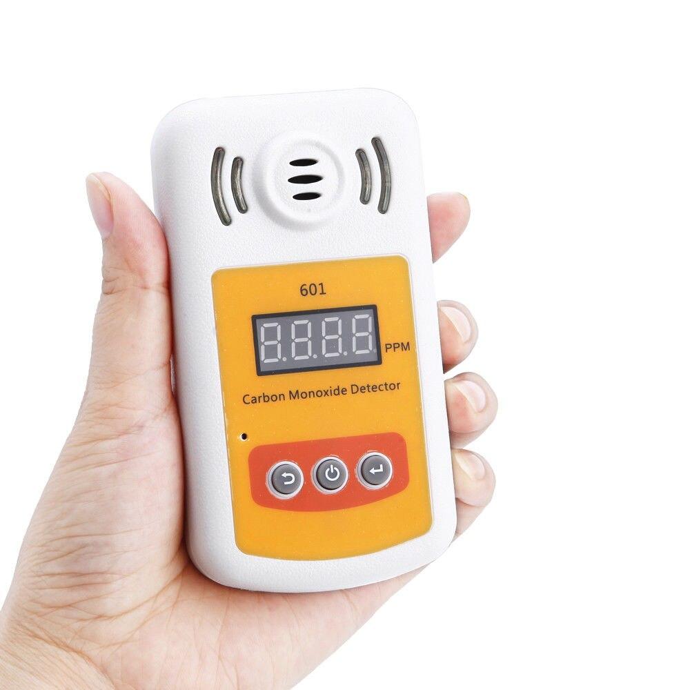 SENSOR inteligente portátil LCD medidor de monóxido de carbono Detector CO Gas probador 0-1000ppm