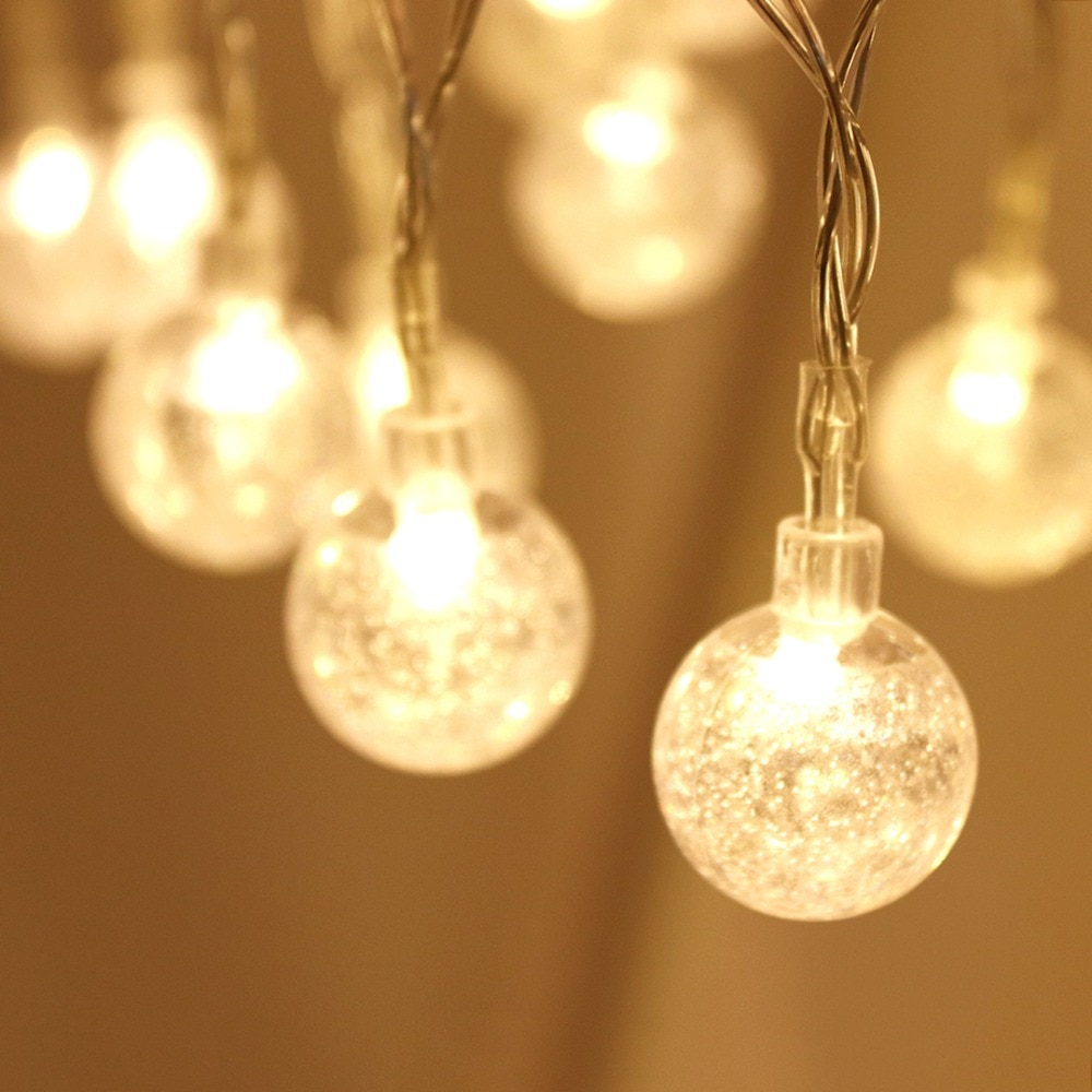 10 Bubble Balls LED String Light Fairy Garland Lights Festoon Light Bulbs For Christmas Holiday Wedding Party Decoration HQ