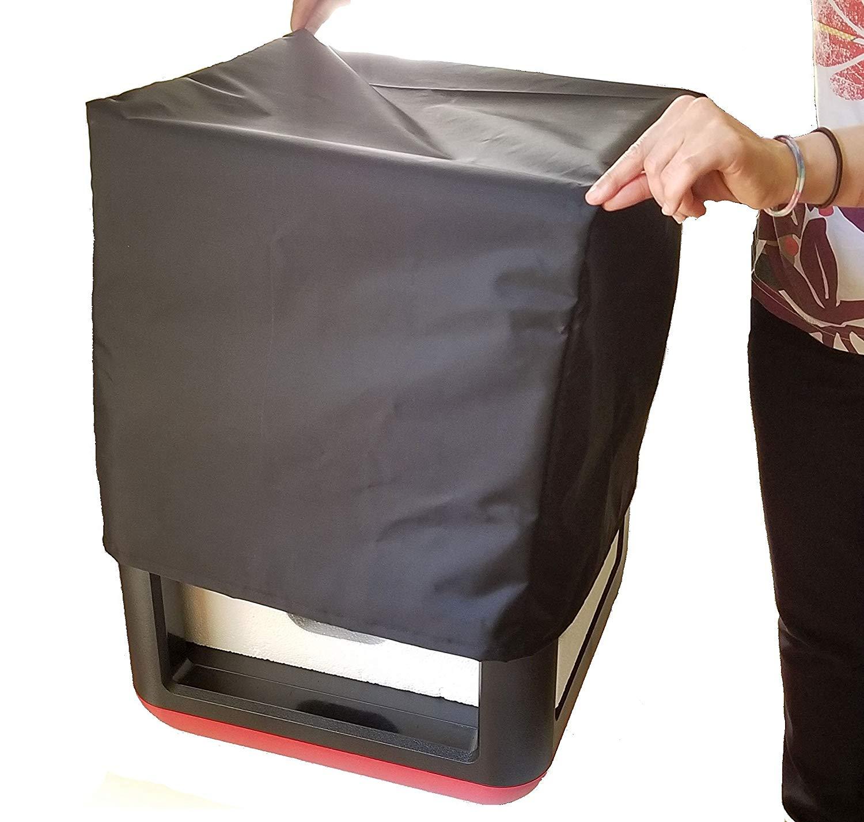 غطاء غبار لطابعة ثلاثية الأبعاد ، غطاء غبار ومضاد للخدش ، مقاسات 42 × 42 × 42 سم ، قماش أكسفورد مقاوم للماء ، أسود