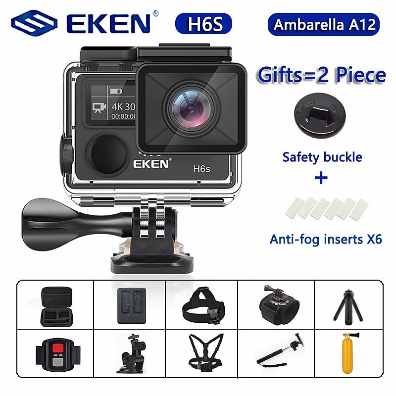 Original EKEN H6S Ultra HD Action Kamera mit Ambarella A12 chip 4 k/30fps 1080 p/60fps EIS 30M Wasserdichte Sport Kamera