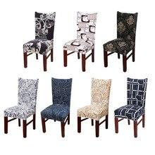 Keuken Stoelhoezen Stretch Furniture Covers Handdoek Stoel Huis De Chaise Kruk Stoel Hoes Spandex 1/2/4/6 stuks