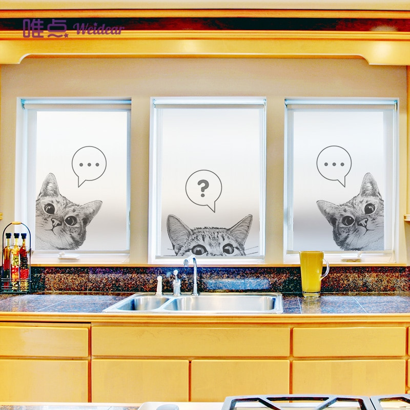 Meng cat ins estilo electrostático película de vidrio esmerilado pegatina para ventana de Baño Luz opaca ventana papel-50