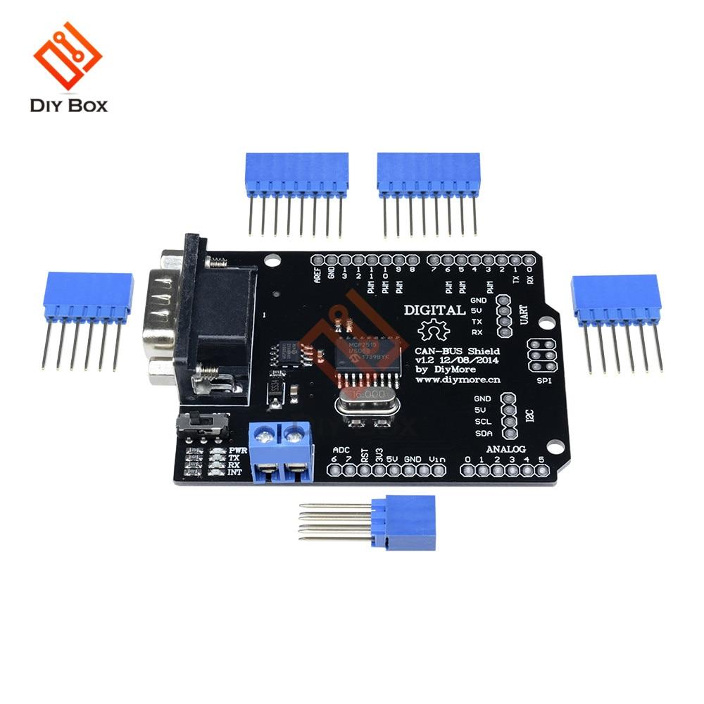 Spi MCP2515 EF02037 Kan Bus Shield Controller Spi 9 Pins Standaard Sub-D Uitbreidingskaart Module Dc 5- 12V Snelheid Hoge Voor Arduino