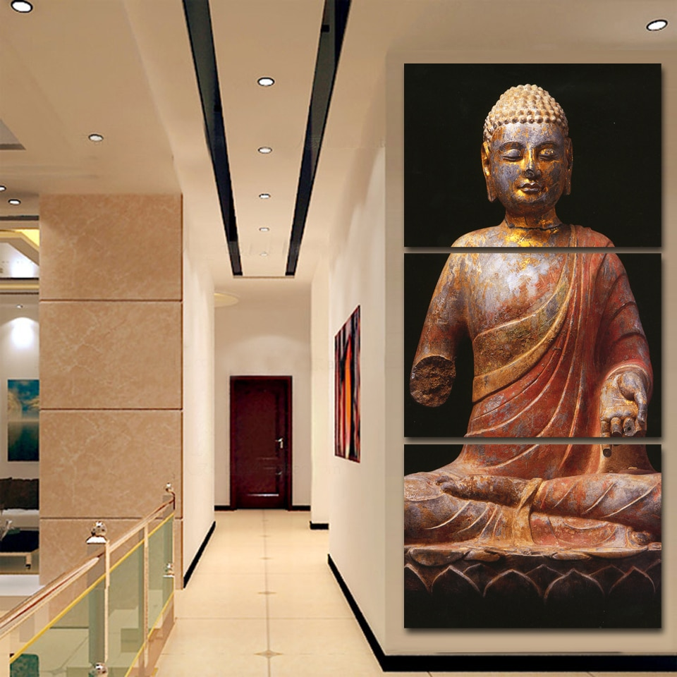 2016 Luxry Home Decoration Canvas Prints Cuadros Painting On Wall Buddha Full Trusts Deep In Our Heart For Living Room Unframed