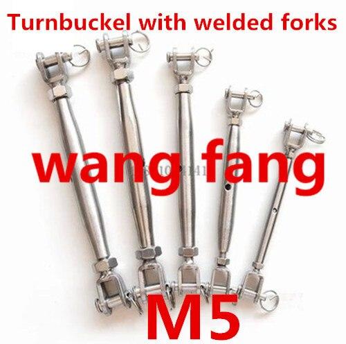 1 Uds tensor de mandíbula de cuerpo cerrado M5 para apretar cuerda de acero inoxidable 304