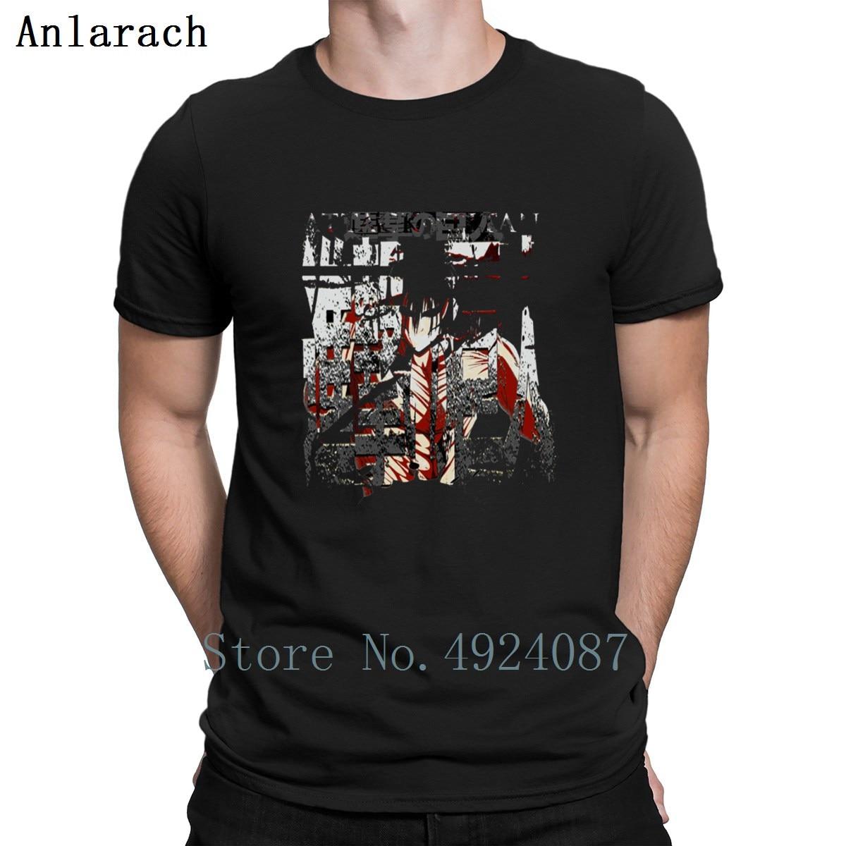 Camiseta de Jersey Grunge Attack On Titan, gran camiseta personalizada de verano, divertidas camisetas con personalidad, camisetas para hombres, bonitas y famosas camisetas para hombre