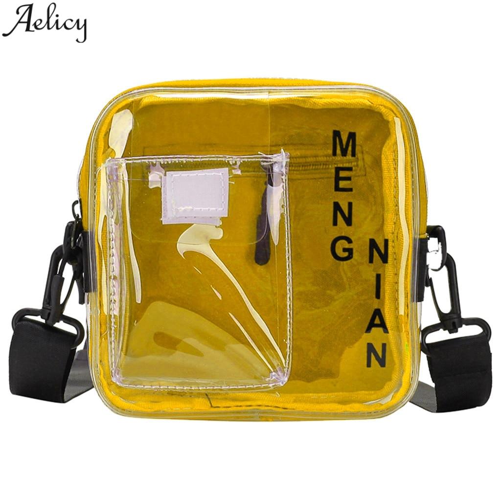 Aelicy женская сумка, широкий плечевой ремень, сумка на плечо, модная прозрачная сумка через плечо, Bolso Mujer Bandolera Ancha Bandolera