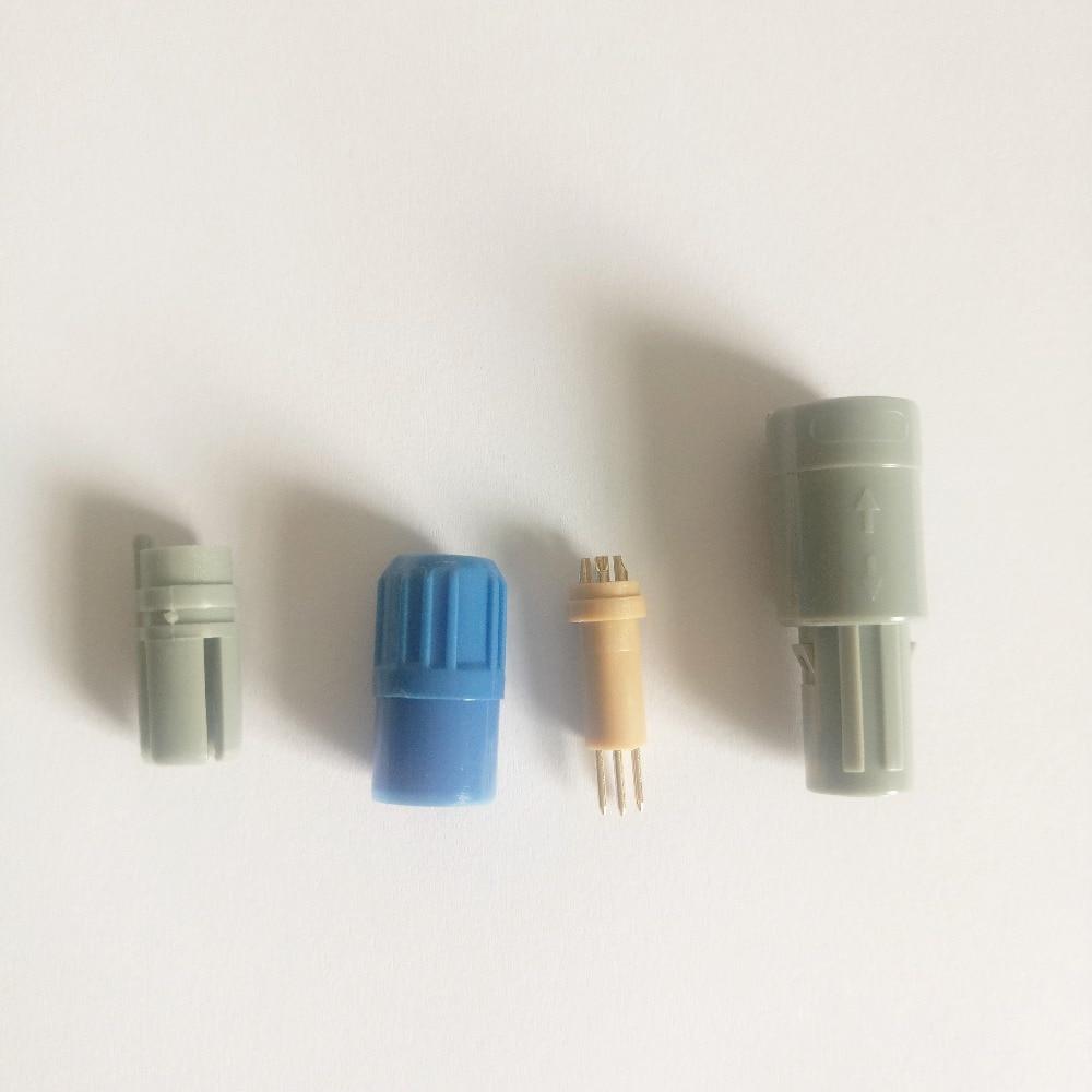 Free Shipping SPO2 lemo connector,4pin double slot 40 degree,2pcs packing