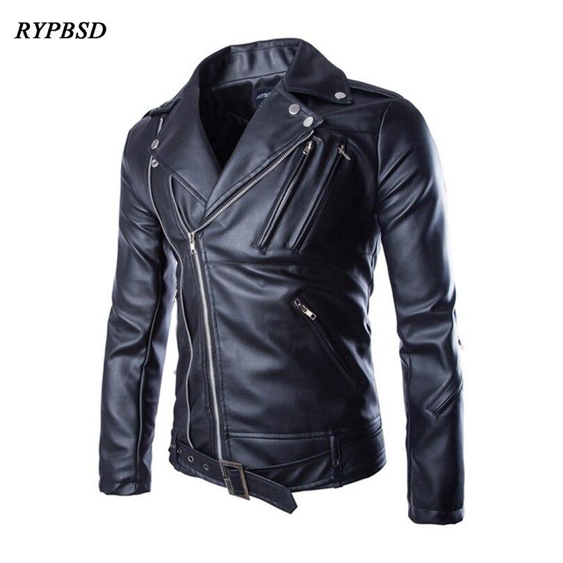 Chaquetas de piel sintética para hombre, moda 2020, cuello vuelto, ropa de calle, chaqueta de piel sintética negra para motocicleta, Prendas de Vestir Vintage para hombre