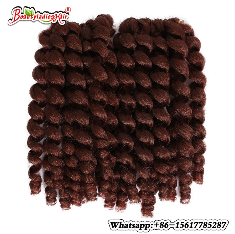 8 75g Jumpy Wand Curl Twist Crochet trenza Jamaican rebote africano pelo trenzado sintético 3 uds fibra de alta temperatura