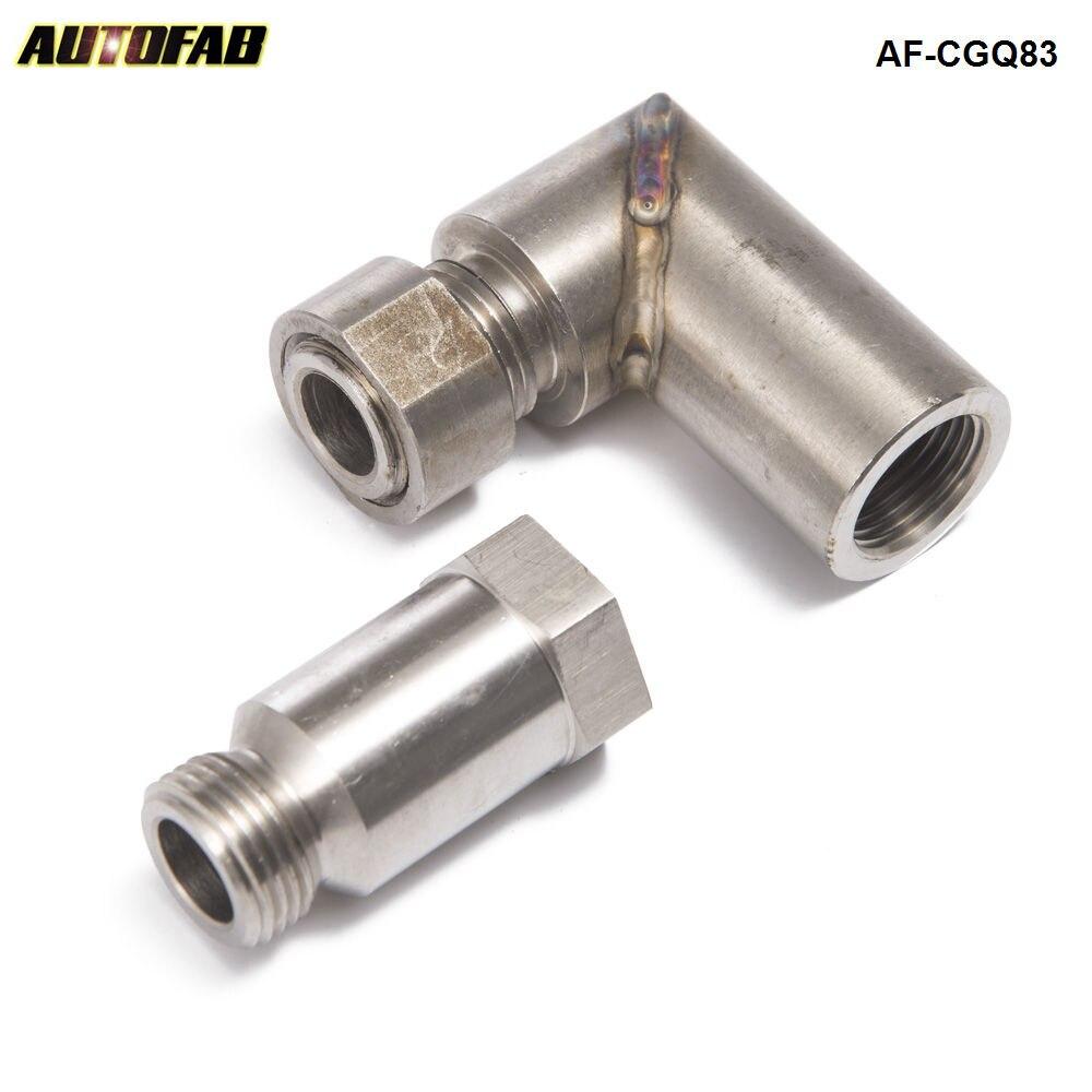 Carro o2 sensor de oxigênio angular extensor espaçador 90 graus o2 bung extensão m18 x 1.5 para sistemas de escape AF-CGQ83
