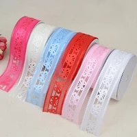 ribbon 3 8cm20 yards wide hollow big butterfly new classic clothing home accessories material polyester craft edge banding