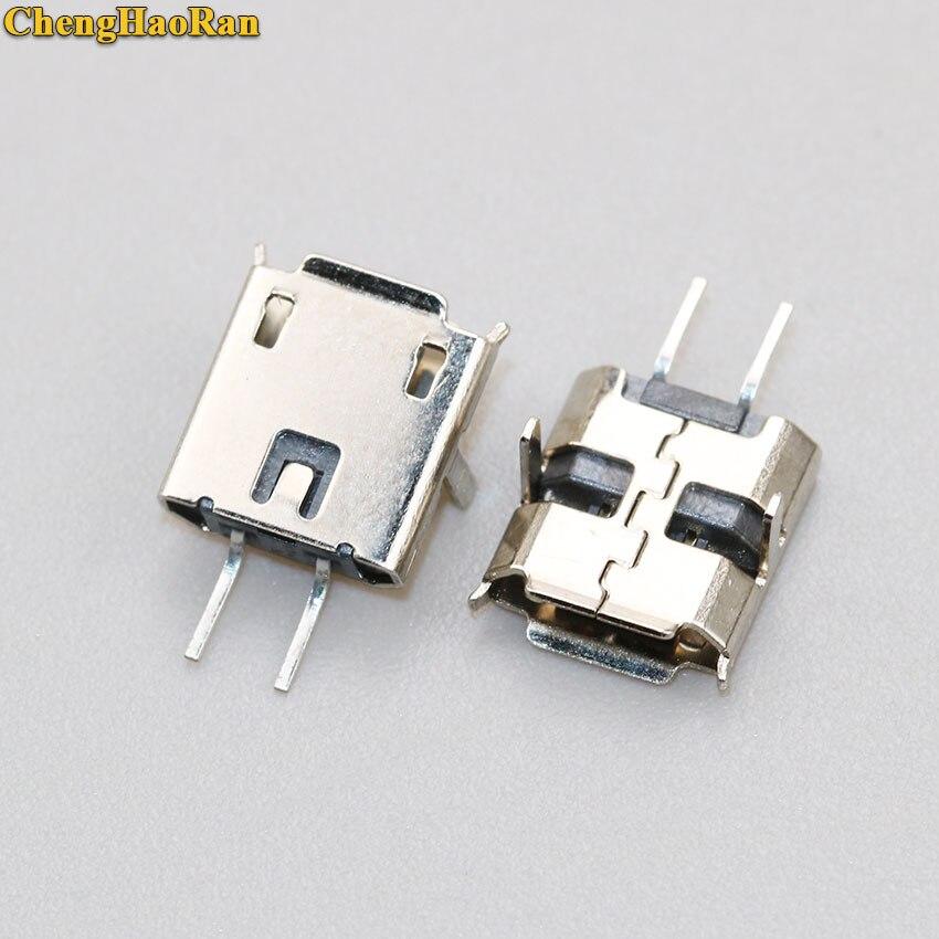 Chenghaئران 2000 قطعة/الوحدة USB 90 درجة DIP 2 دبوس USB موصلات مايكرو USB موصل جاك الذيل التوصيل محطات صغيرة Sockect