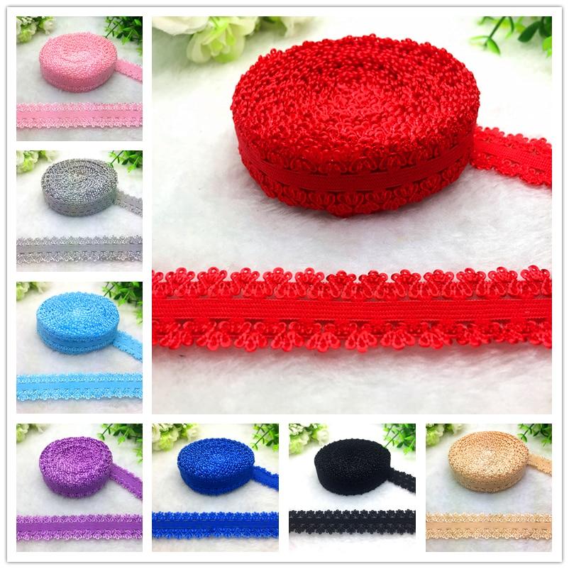 "16 Colors 5 Yards 3/4""(20mm) Bilateral Crown Elastic Band Multirole Trim Ribbon Sewing Spandex Lace Trim Waist Garment Accessory"