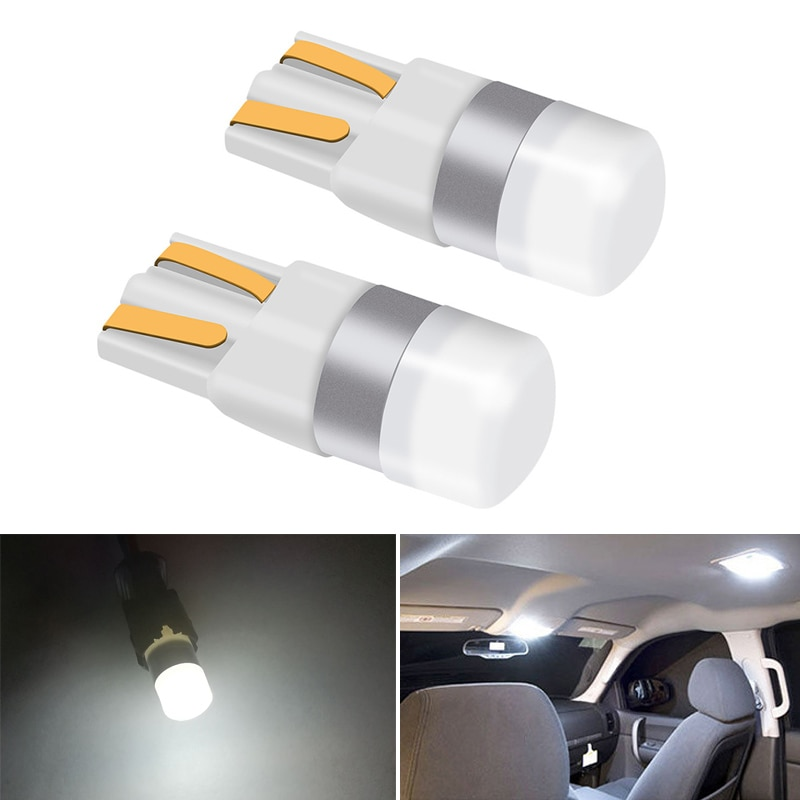 2x T10 W5W LED Car Parking Light For Skoda Octavia A5 Fabia Opel Astra H J G Insignia Hyundai Solaris I30 Wedge Tail Side Lamp
