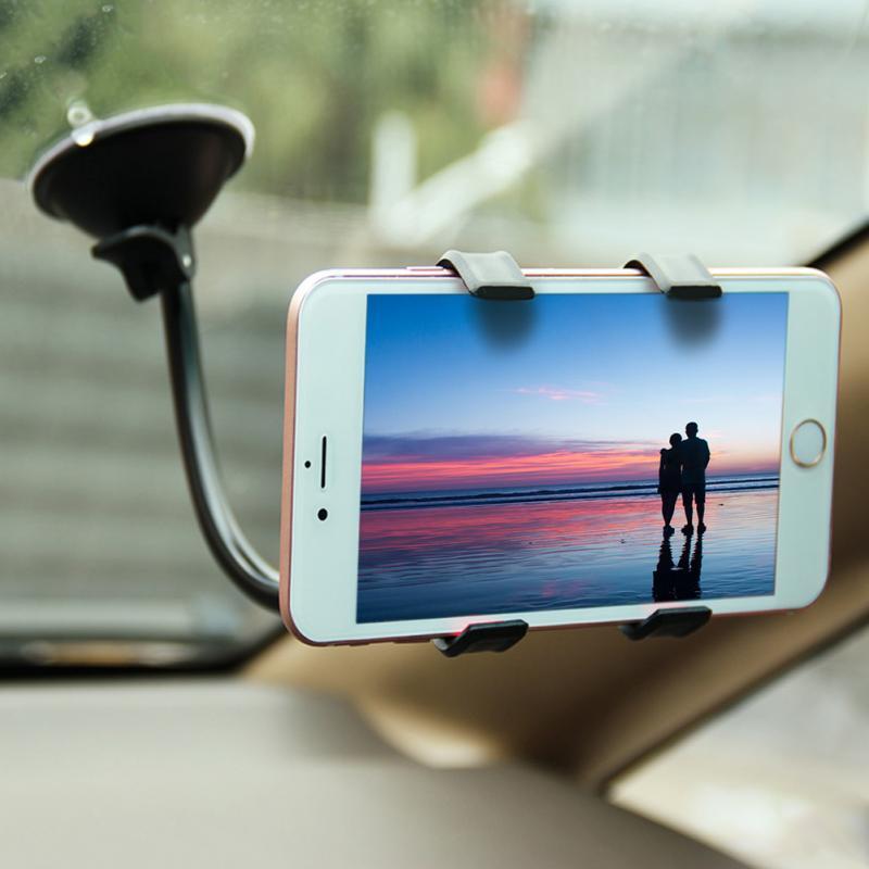 Universel 360 rotation réglable voiture support pour téléphone fenêtre pare-brise support pour téléphone pour iPhone Samsung HTC LG