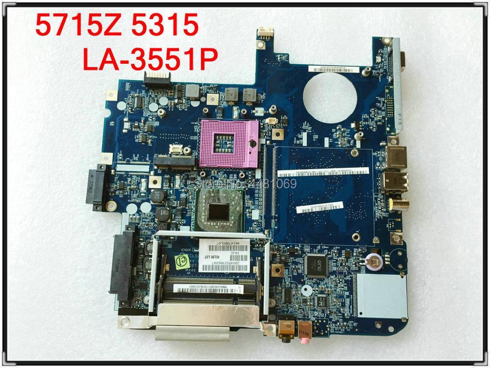 LA-3551P para Acer 5715Z 5315 portátil placa base ICL50 LA-3551P MBAKM02001 placa...