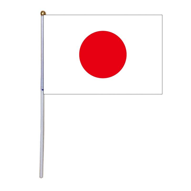 Frete grátis xvggdg 100 pcs 14*21 cm japão bandeira mão Japão Mão Que Acena a Bandeira Nacional