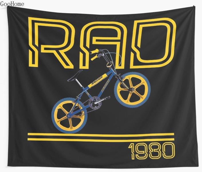 Tapiz Retro Para bicicleta BMX de 80 para playa, toalla, manta para Picnic y Yoga, decoración del hogar