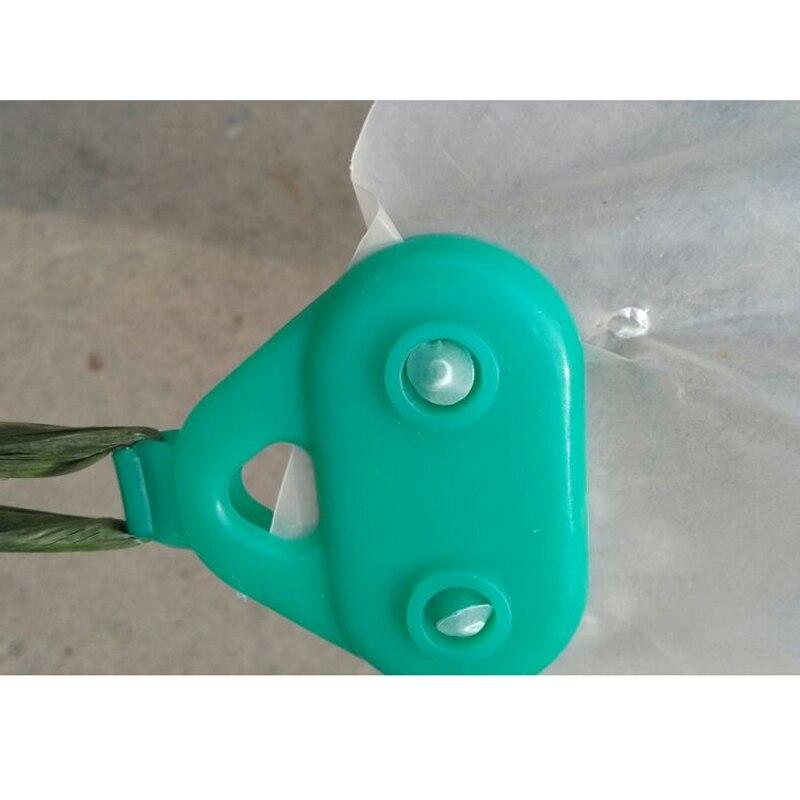 10 шт./лот, маленькие инструменты для садоводства, пленка с пряжкой, пластиковая парниковая пленка, зажим для зажима сети, аксессуары для труб