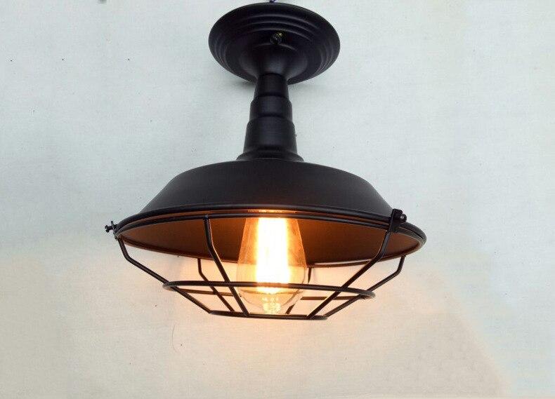 European Loft Industrial Retro Iron Lamp Cafe Bar Restaurant Dining Room Clubhouse Warehouse Head Ceiling Light